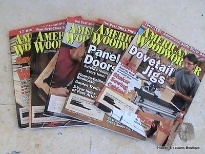 Collection Of 5 American Woodworker Magazines Issues From 2000 & 2001