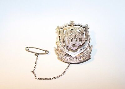 Vintage 1930s Notre Dame De Sion College Sterling Silver NDS School Badge Pin