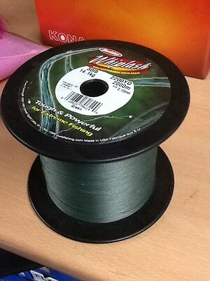 Berkley Whiplash Braid | 2200yd / 2000m | Green | Fishing Line | Braided Line