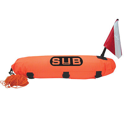 Lalizas Torpedo Diving Inflatable Marker Buoy ''Safe Dive'' with 65ft of Rope