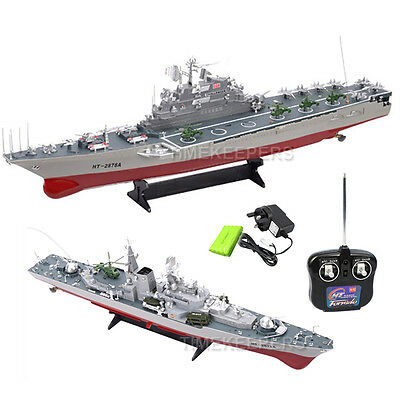 1:275 Aircraft Carrier Battleship & Destroyer RC Radio Remote Control Boat Ship