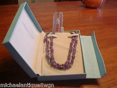 Coldwater Creek Amethyst Necklace with Sterling Silver Clasp