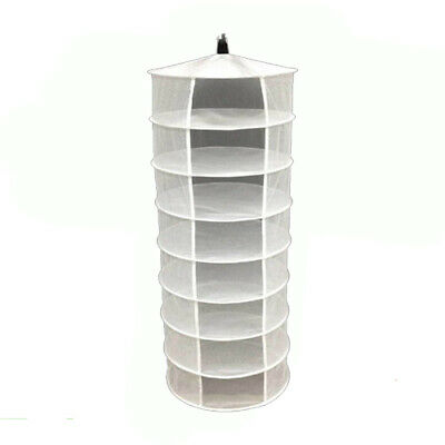 Hydroponic Herb Plant Bud Heavy Duty Hanging 8 Tier Drying Rack Dry Shelf Net