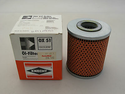 NEW KNECHT OX51 Engine Oil Filter 11421256402 FOR BMW 1969-1978