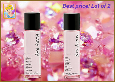 Lot of 2 Mary Kay 2 Oil-Free Eye Makeup Remover - FRESH FULL SIZE.