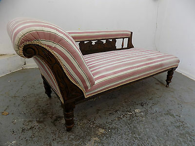 victorian,antique,chaise longue,bedroom,living room,striped fabric,sofa,chaise