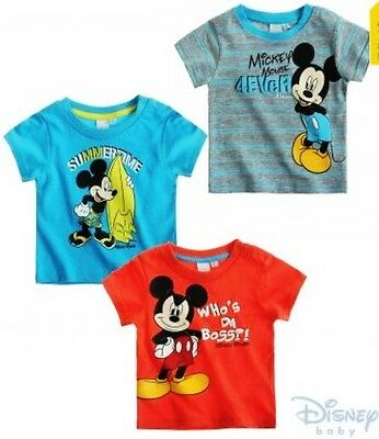 Official Kids Childrens Boys Mickey Mouse T-Shirts - Officially Licenced