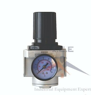 "New 1"" Inline Air Compressor In Line Regulator & Pressure Gauge"