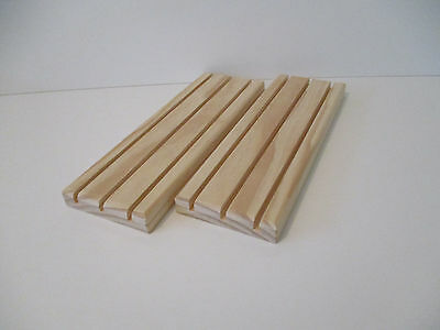 Wooden Playing Card Holders 3 Row - Set Of 2
