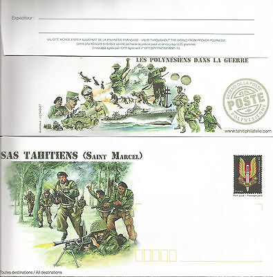 French Polynesia  Rare Postal Stationary The Sas Tahitians In The War