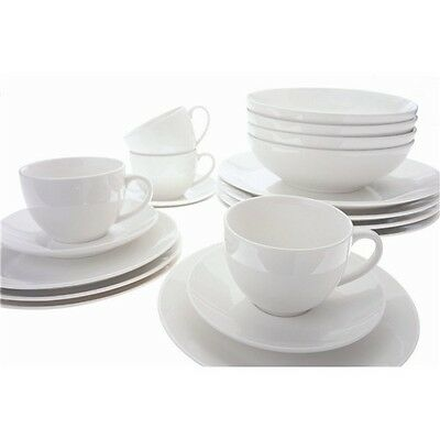 New Maxwell & Williams White Basics 20 Piece Coupe Dinner Set