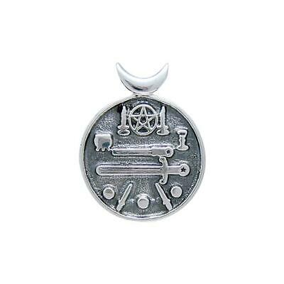 Pagan Wicca Witches Cauldron .925 Sterling Silver Pendant by Peter Stone Jewelry