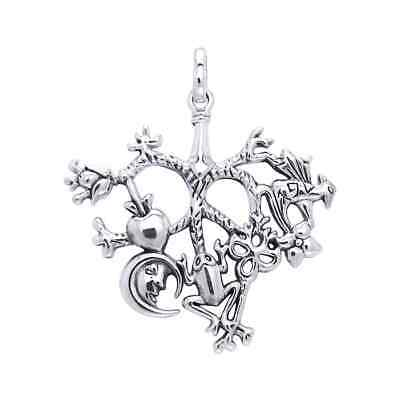 Cimaruta Witch .925 Sterling Silver Charm by Peter Stone