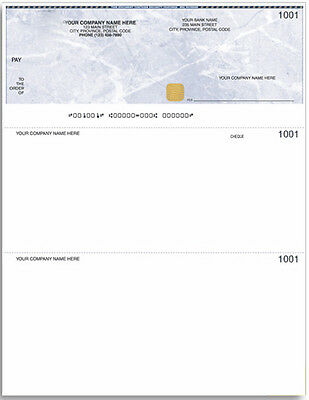 Laser Cheque Paper with Hologram (Blank paper, unprinted), 100 pcs