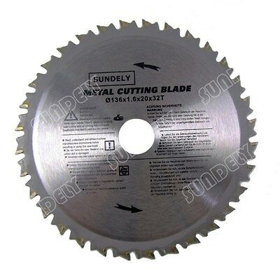 2 x 136mm Professional Silver PMC Metal TCT Cutting Circular Saw Blades