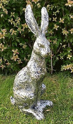 LARGE Champagne Bronze Effect Hare Sculpture Ornament Figure NEW