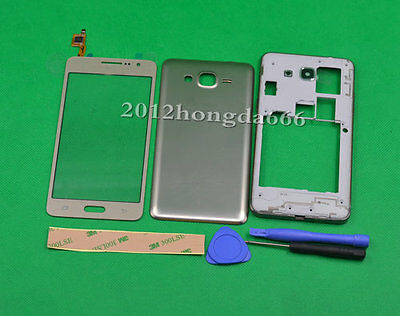 For Samsung Galaxy Grand Prime G530 Gold Housing Cover+Touch Screen Digitizer