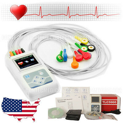 2016 Newest 12-channel ECG/EKG Holter System/Recorder Monitor ​Analyzer Software