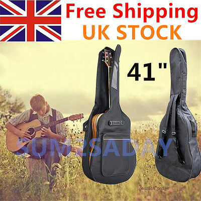 """41"""" Full Size Padded Protective Classical Acoustic Guitar Back Bag Carry Case"""