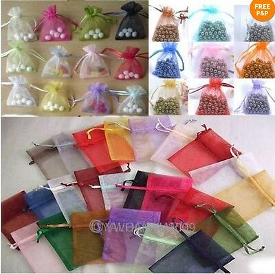 Wholesale 50pcs Gift Transparent Pouch Organza Bags Wedding 7x9cm Popular