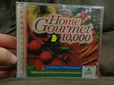 HOME GOURMET_10,000 recipes_used CD rom_ships from AUSTRALIA_A33
