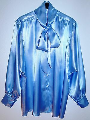 Satin-Bluse - Schleifenbluse - 52/54/56 bow blouse - satin blouse UK 28-30 US 4X