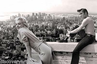 Marilyn Monroe and Elvis Presley Movie Star Icons Canvas Wall Art Poster Print