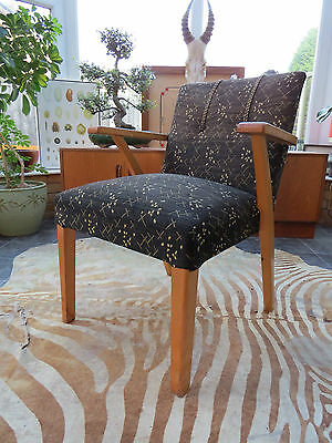 VINTAGE 1950's EAST GERMAN  COCKTAIL ARM CHAIR GOOD CONDITION.