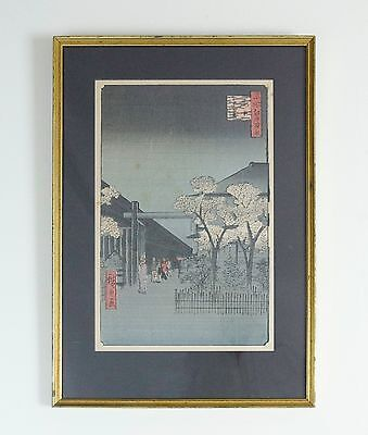 Framed Antique Japanese Woodblock Print Andō Hiroshige