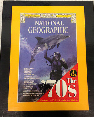 National Geographic The 70's 3 Cd Rom Interactive