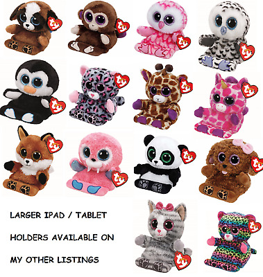 Ty - Peek-A-Boo Soft Plush Toy Mobile Phone - Tablet Holder - 2 Sizes Available