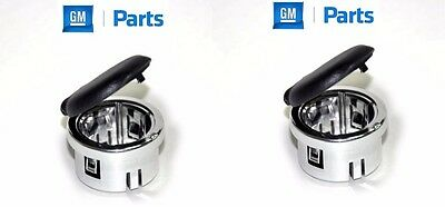 2 New Genuine GM GMC Chevy  Chrome Power Outlet Retainer Cover 2 Pack