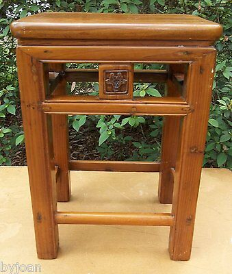 Antique Chinese Carved Low Table of Significant Form