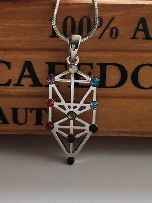 Sacred Geometry Kabbalah Tree of Life Necklace - SHIPPING FROM USA