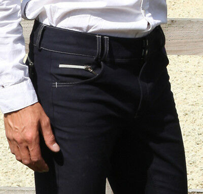 Derriere Equestrian Mens Treviso Training Breeches - Outstanding Quality - Navy