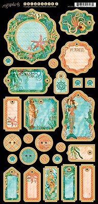 Graphic 45 Voyage Beneath The Sea Journaling Chipboard Tags - 4501333