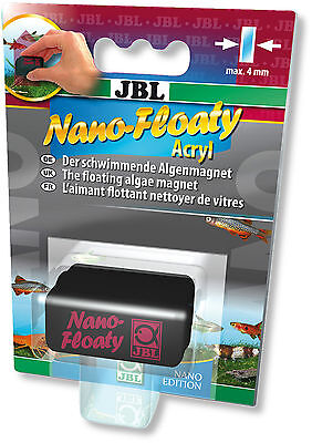 JBL Nano-Floaty Floating Algae Magnet Cleaner for Glass & Acrylic Nano Aquariums