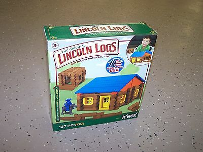 Lincoln Logs.  The Original Linclon Logs 137 Pieces of Fun, Ages 3+.  New In Box
