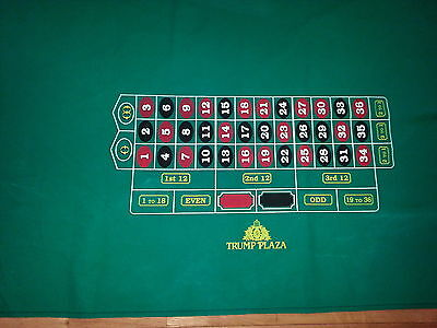 Authentic Full Size TRUMP PLAZA Roulette Layout Casino Quality BRAND NEW FS!