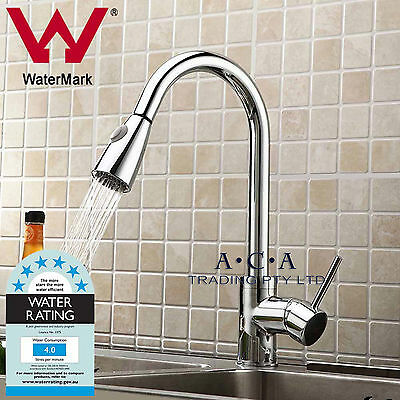 ACA WELS Tall PULL OUT SPOUT KITCHEN BASIN VANITY MIXER TAP SINK LAUNDRY FAUCET