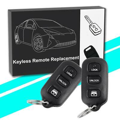 2 For Toyota 4Runner 1999 2000 2001 2002 2003 2004 Remote Keyless Entry Key Fob