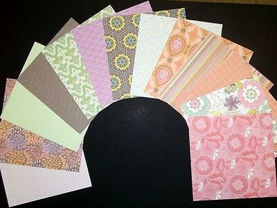 """*BLOSSOM*  Scrapbooking/Cardmaking Papers x 13  *15cm x 15cm - (6"""" x 6"""")"""