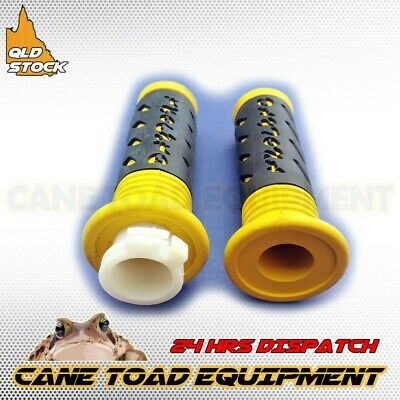 Twist Throttle Yellow Rubber Grips 22mm Handle bar ATV Quad Pit Pro Dirt Bike