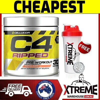 Cellucor C4 Ripped 30Srv Pre Workout Cherry Lime// Thermogenic Fat Burner Gen 4