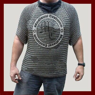Aluminium Chainmail Shirt Butted Chainmail Haubergeon Medieval Costume Armour Ri