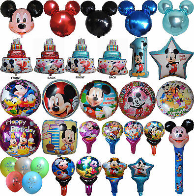 Mickey Mouse Balloon Party Lolly Bag Treat Box Filler Gift Decor Centerpiece Toy