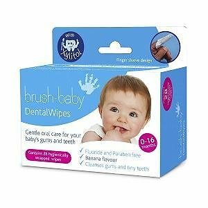 Brush Baby Dental Wipe Sleeve 0-16 Months - 28 Wipes Per Pack