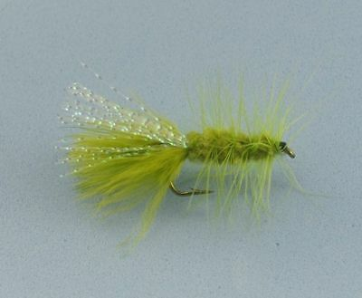 Olive Green Woolly Bugger 5pcs Wet Flies Trout Freshwater Fly Fishing lures
