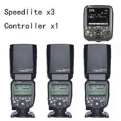 3 YONGNUO YN600EX-RT Flash Speedlite +SN-E3-RTs as ST-E3-RT Controller for Canon