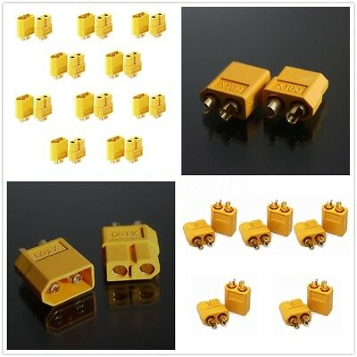 1-20 pairs XT-60 Male Female Bullet Connectors Battery Plugs Adapter RC Hobby